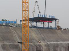 中铁建工南宁火车东站项目钢筋加工区
